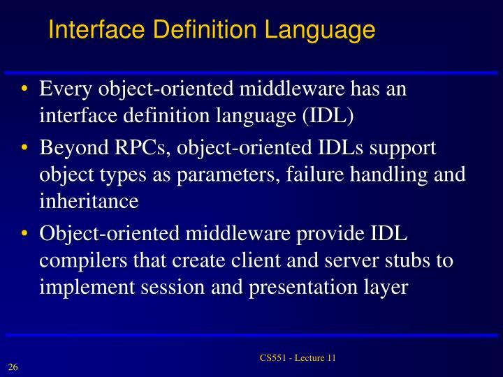 Interface Definition Language