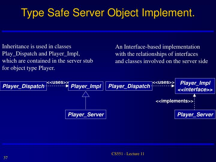 Type Safe Server Object Implement.