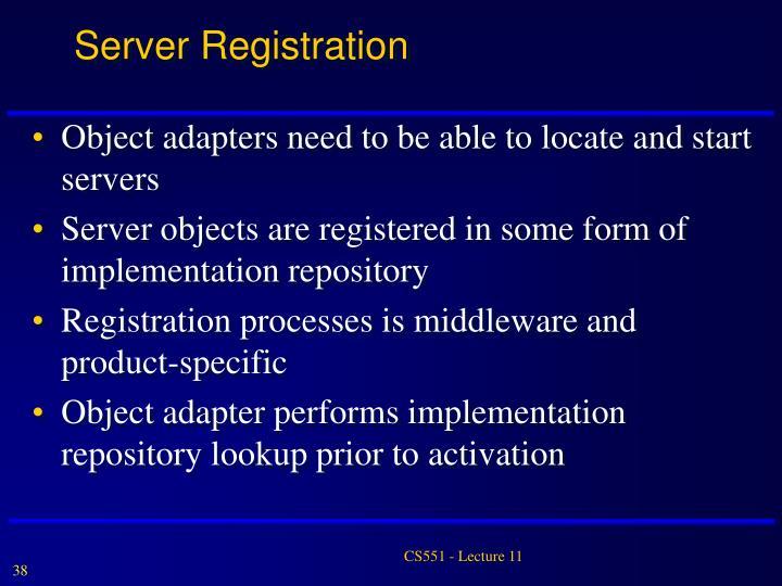 Server Registration