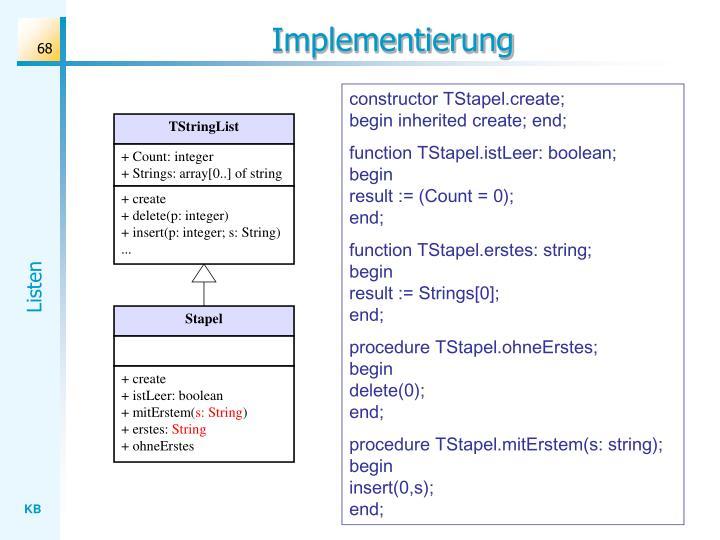 Implementierung