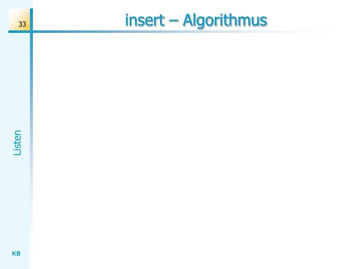 insert – Algorithmus