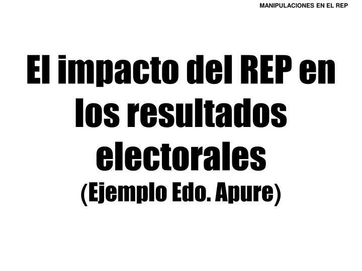 El impacto del REP en los resultados electorales