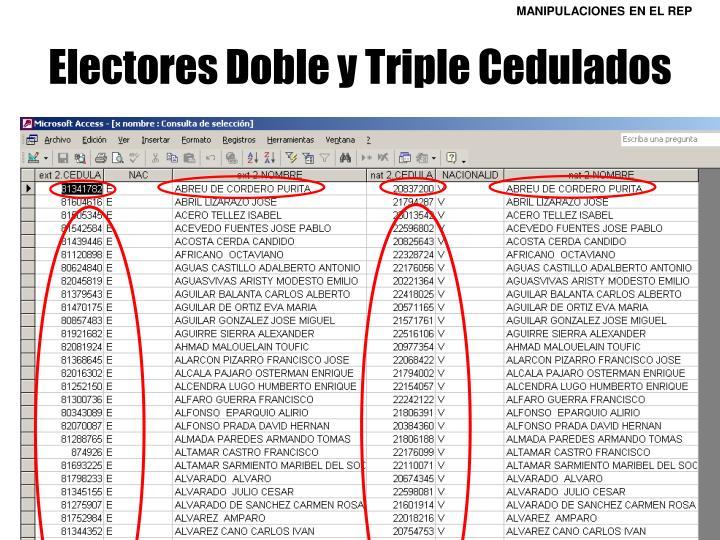 Electores Doble y Triple Cedulados
