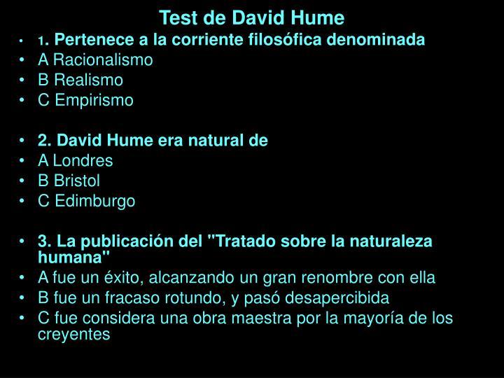 Test de David Hume