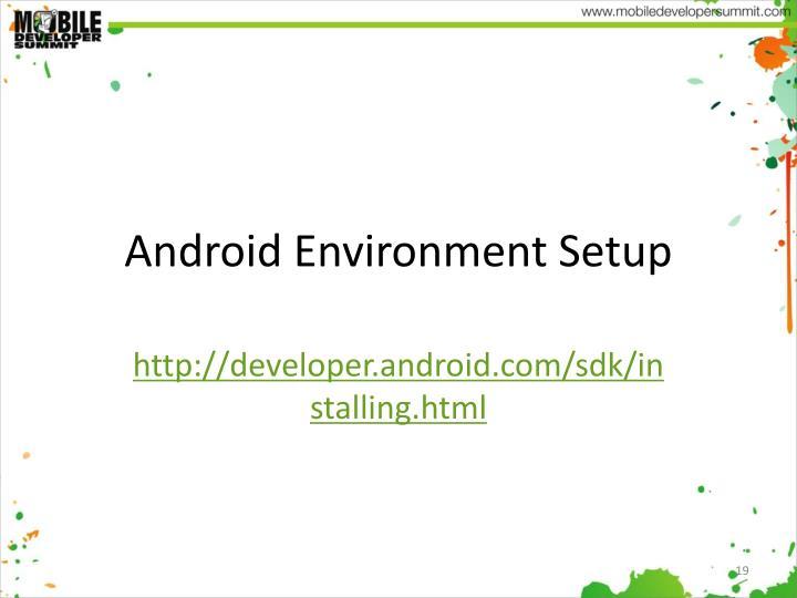 Android Environment Setup