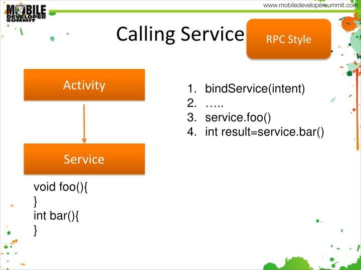 Calling Service