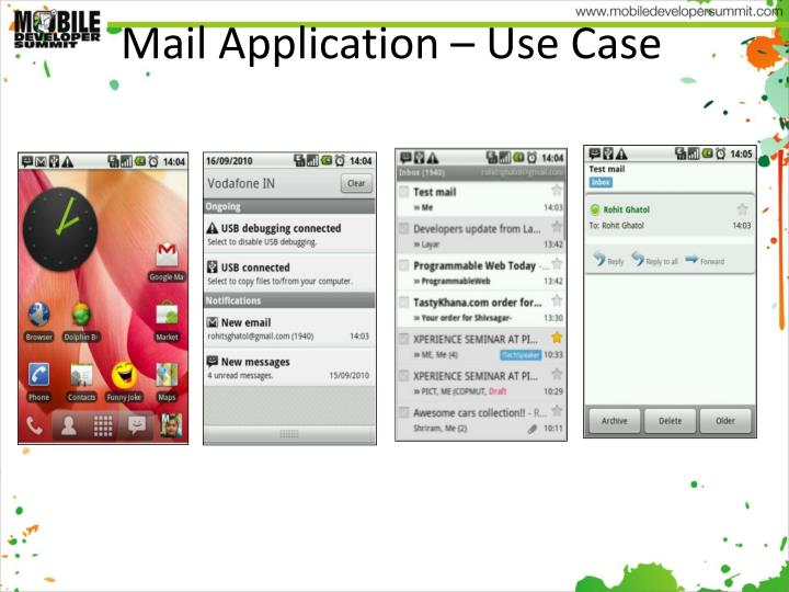 Mail Application – Use Case