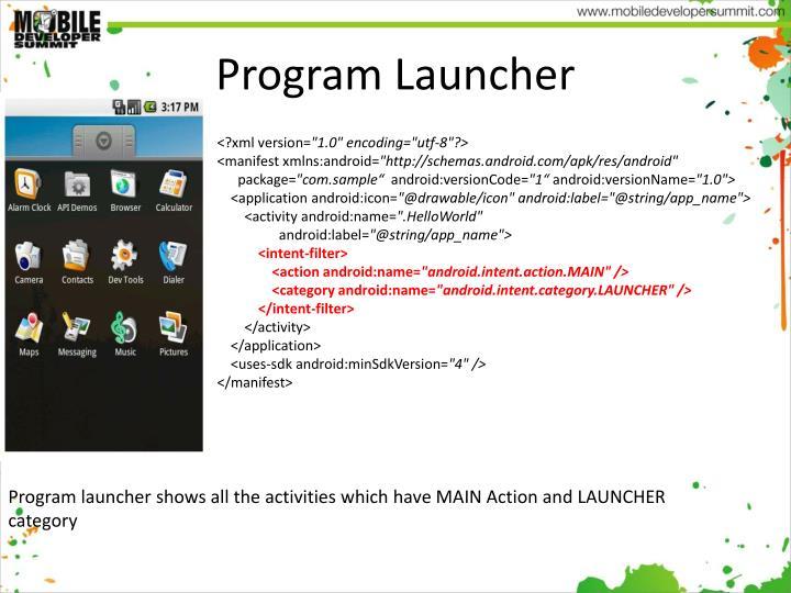Program Launcher