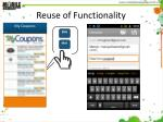 reuse of functionality3