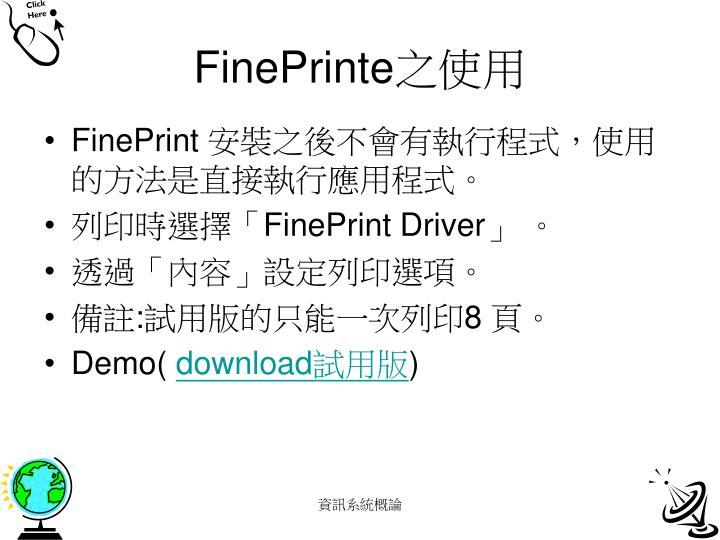 FinePrinte