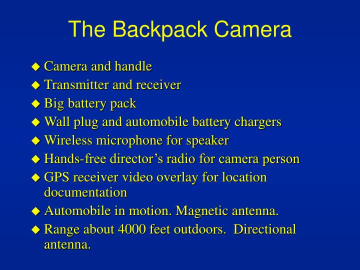 The Backpack Camera