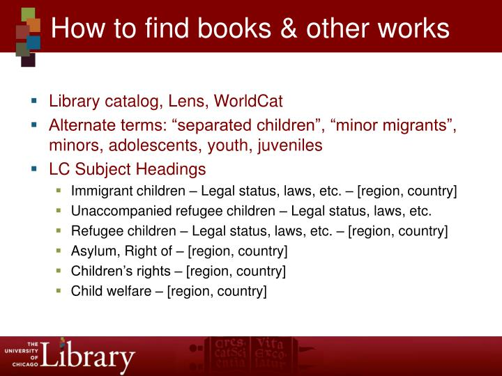 How to find books & other works