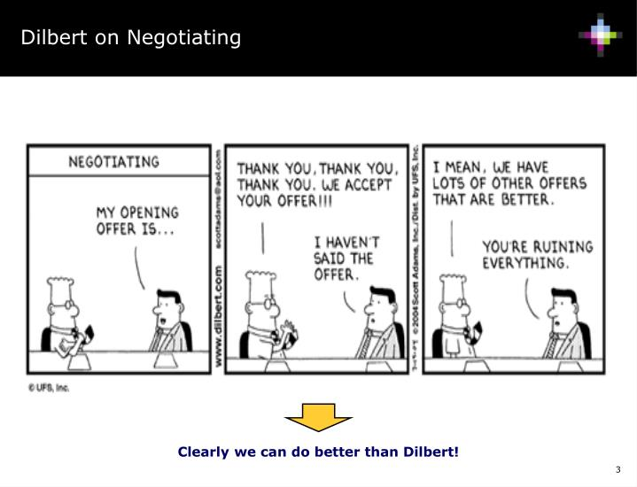 Dilbert on Negotiating
