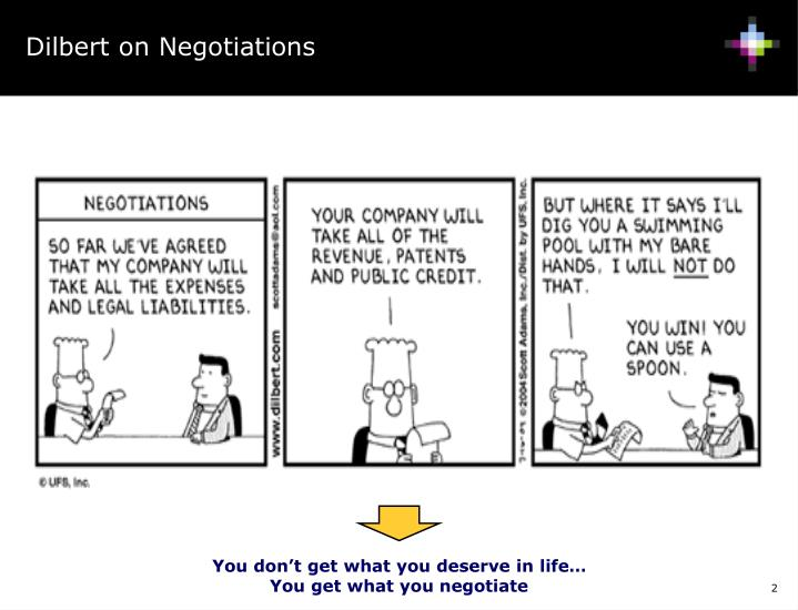 Dilbert on Negotiations