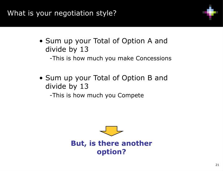 But, is there another option?