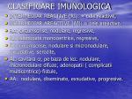 clasificare imunologica1