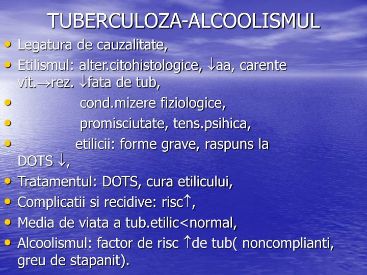 TUBERCULOZA-ALCOOLISMUL