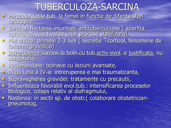 TUBERCULOZA-SARCINA