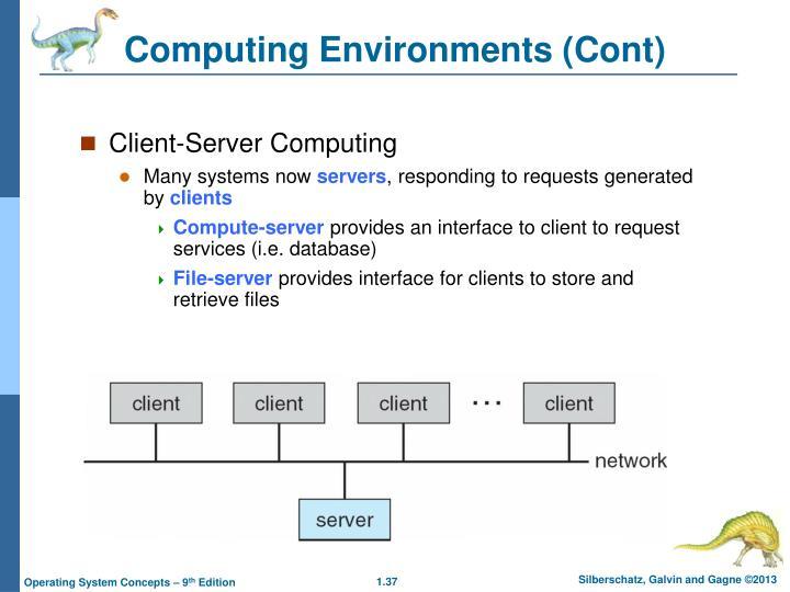 Computing Environments (Cont)