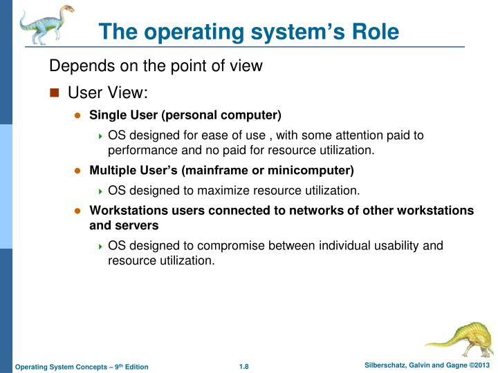 The operating system's Role