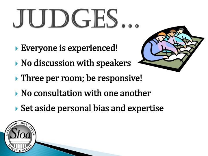 Judges…