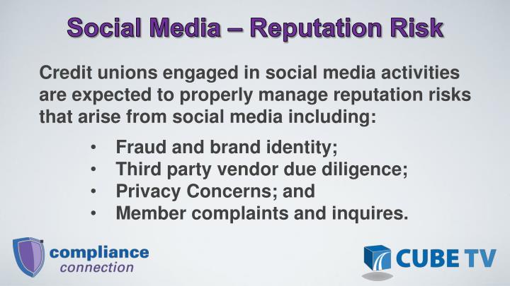 Social Media – Reputation Risk