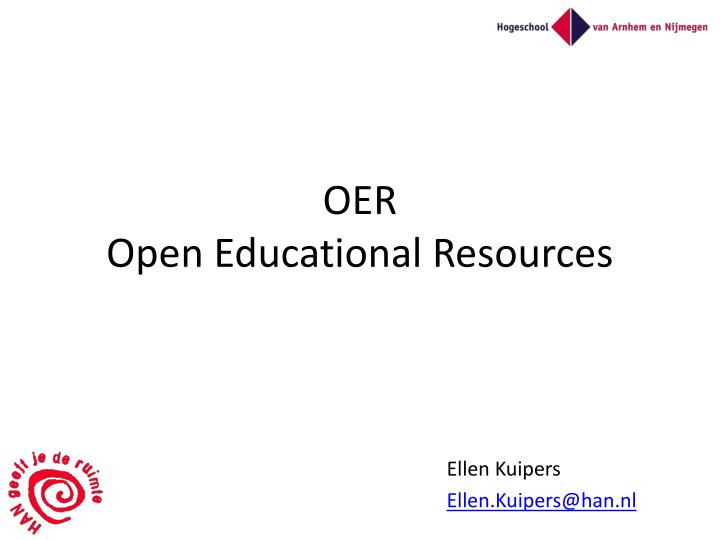 Oer open educational resources
