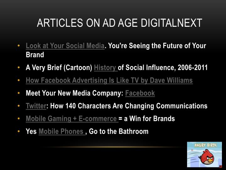 Articles on Ad Age