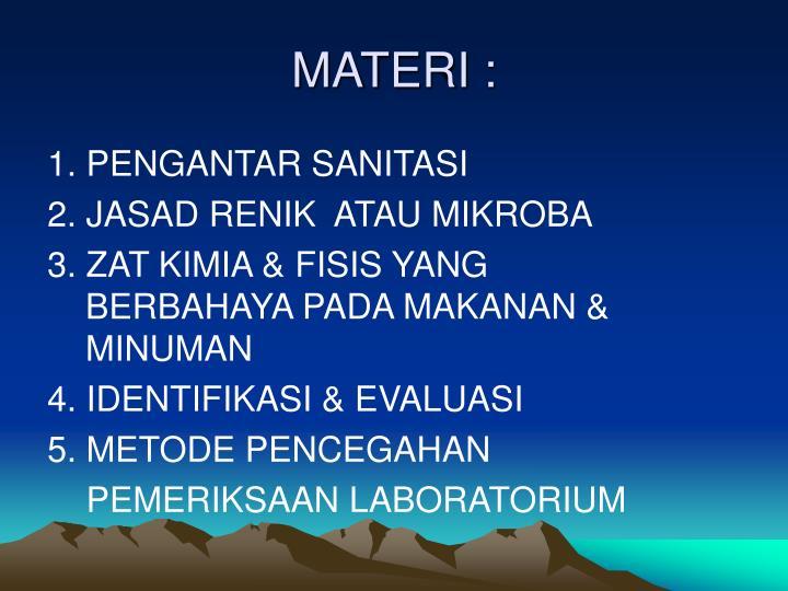 MATERI :