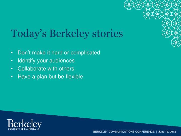 Today's Berkeley stories