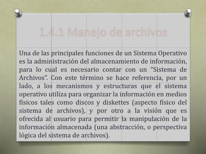 1.4.1 Manejo de archivos