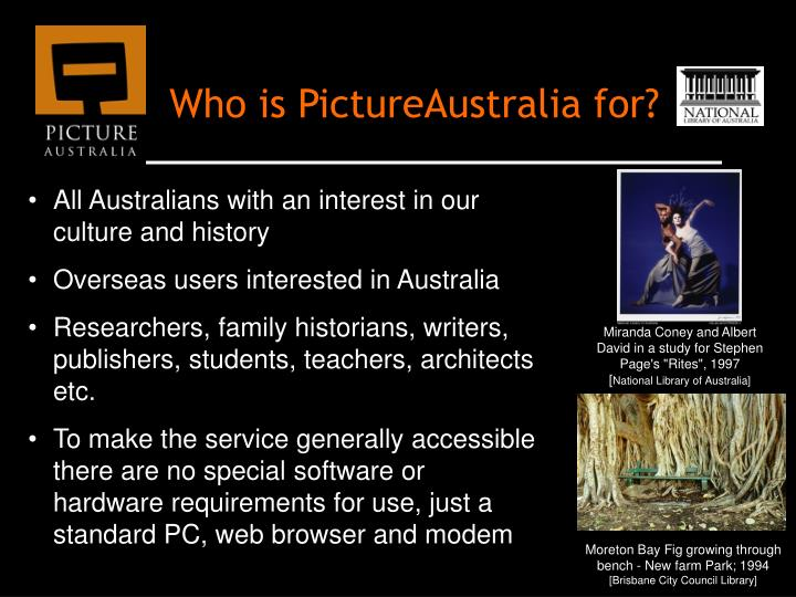 Who is PictureAustralia for?