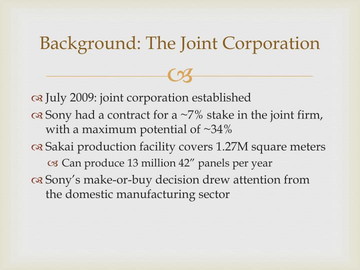Background the joint corporation