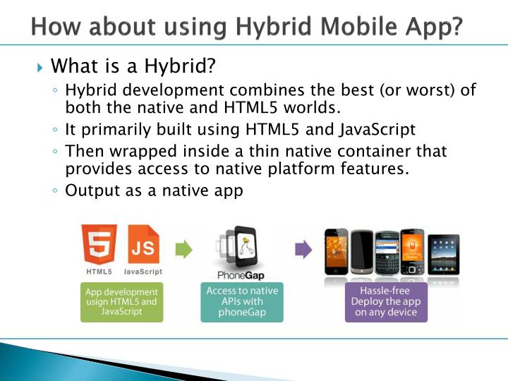 How about using Hybrid Mobile App?