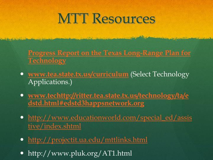 MTT Resources