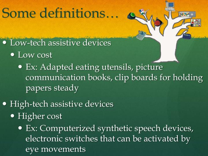 Some definitions…