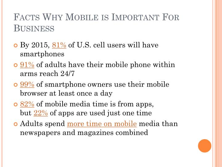 Facts Why Mobile is Important For Business