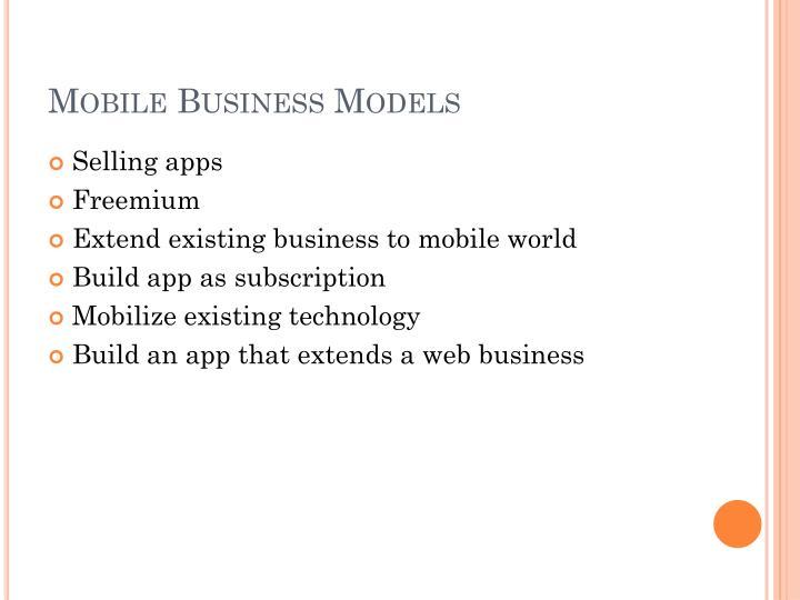Mobile Business Models