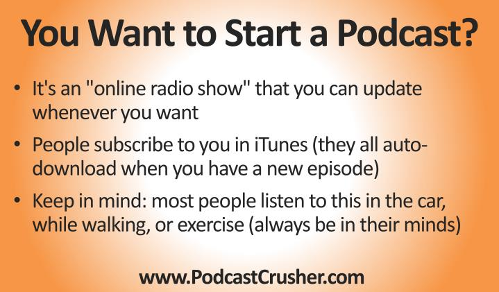 You want to start a podcast