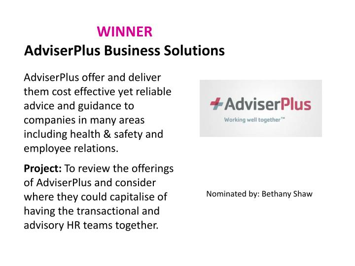 Winner adviserplus business solutions