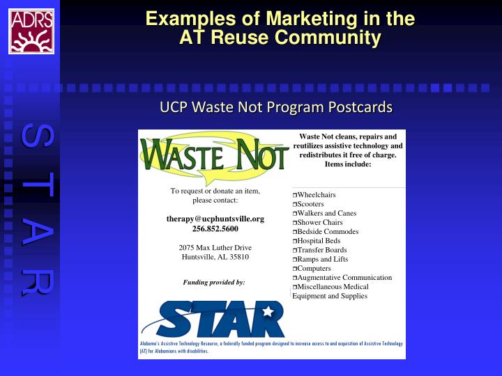 Waste Not cleans, repairs and reutilizes assistive technology and