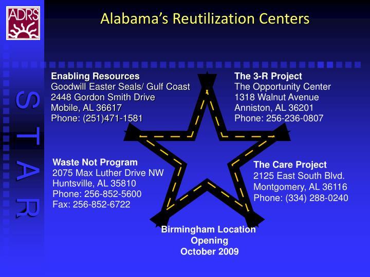Alabama's Reutilization Centers