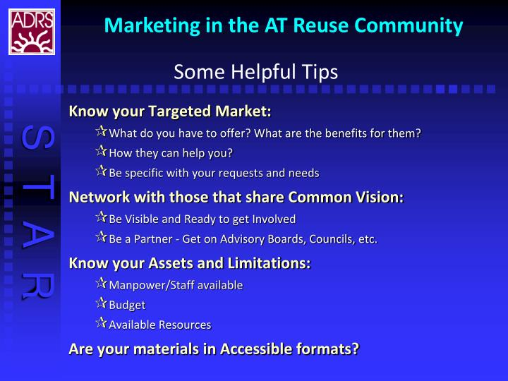 Know your Targeted Market: