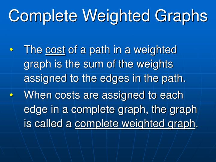 Complete Weighted Graphs