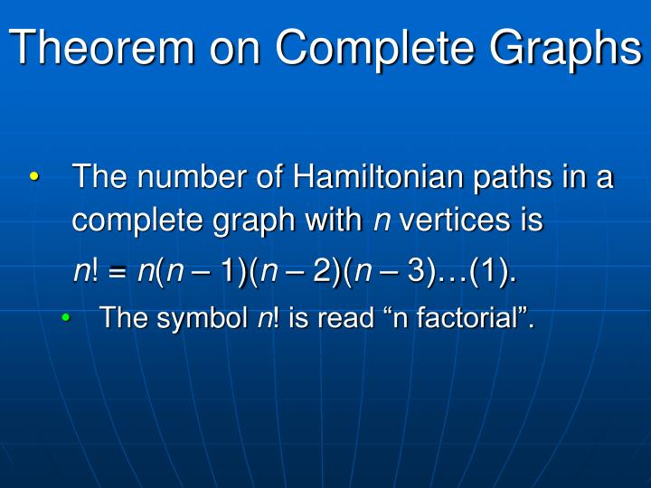 Theorem on Complete Graphs