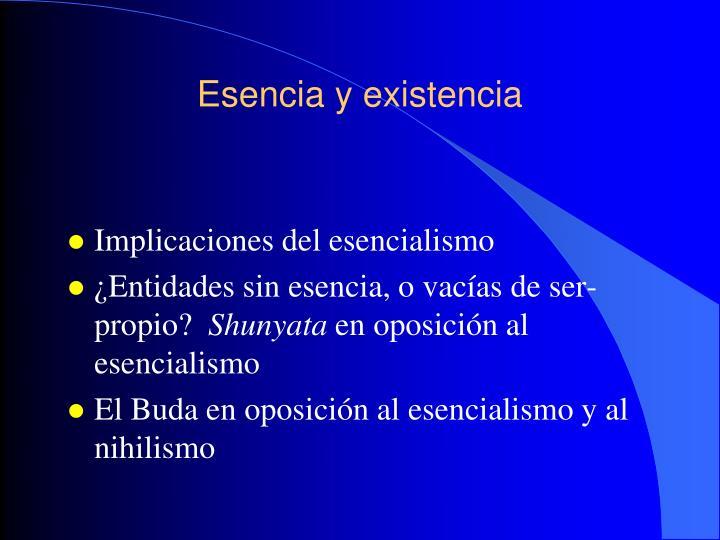 Esencia y existencia