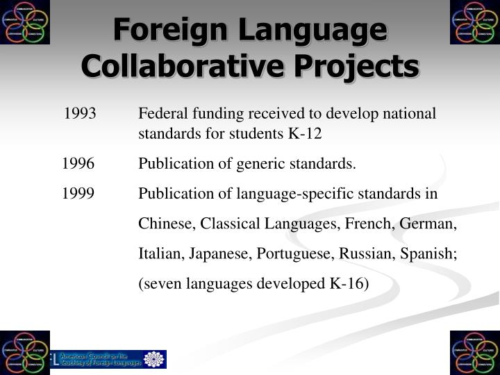 Foreign language collaborative projects