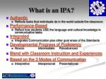 what is an ipa