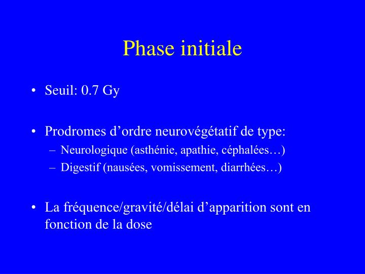 Phase initiale