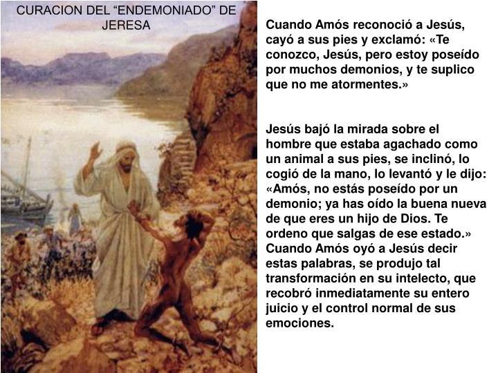 """CURACION DEL """"ENDEMONIADO"""" DE JERESA"""